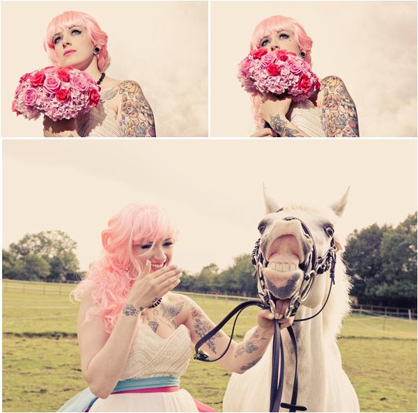 Alternative kent wedding photographer tattoed bride