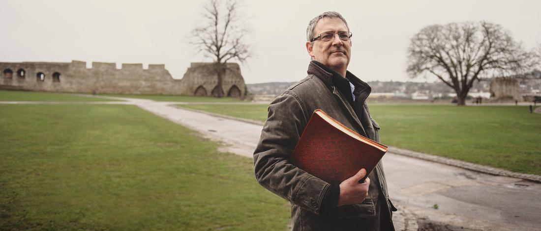 Walkers of Legend Author Miles Allen by Editorial portrait photographer Martin Hobby, taken in Rochester, Kent