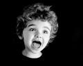 Black and white child portrait