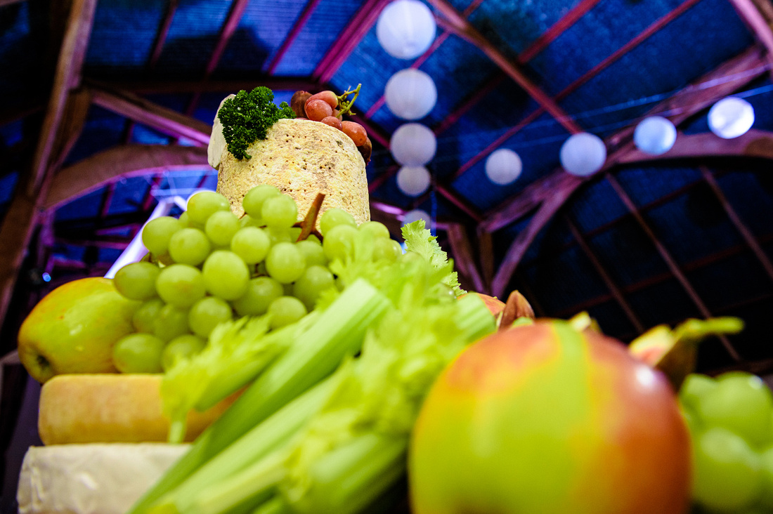 wedding cheese cake at  Alpheton Hall barns