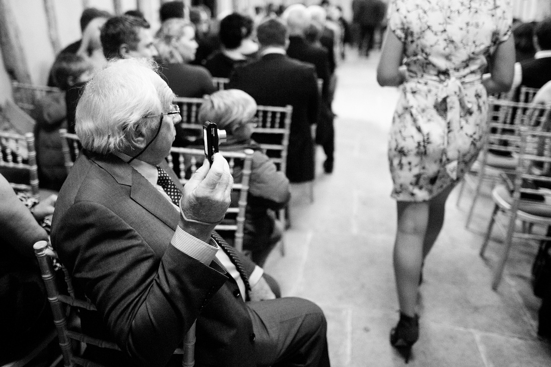 Guests during a weddings at Alpheton Hall barns